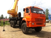 Автокран Ивановец КС-45717К-3Р. КАМАЗ,  6х6. 25 тонн. 31 метр. Овойд.